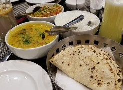 Tadka Daal, Roti, Rice and Noodles