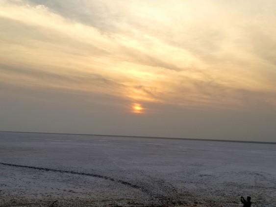white rann sunrise