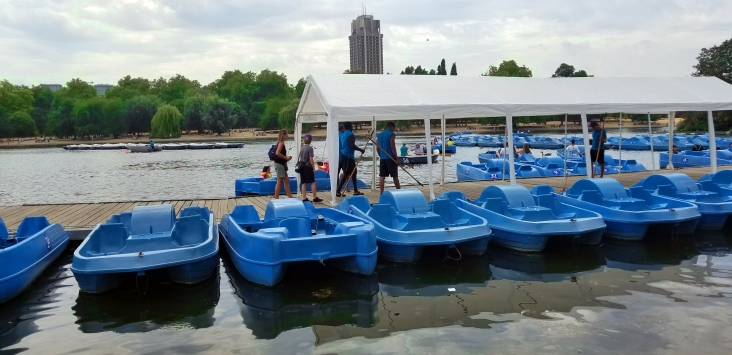 Paddle Boat rental at Hyde Park